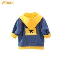 VFOCHI Girl Denim Jacket 6 Color Fashion Hooded Jacket Children Clothing Autumn Baby Girls Clothes Outerwear Boys Denim Jacket недорого