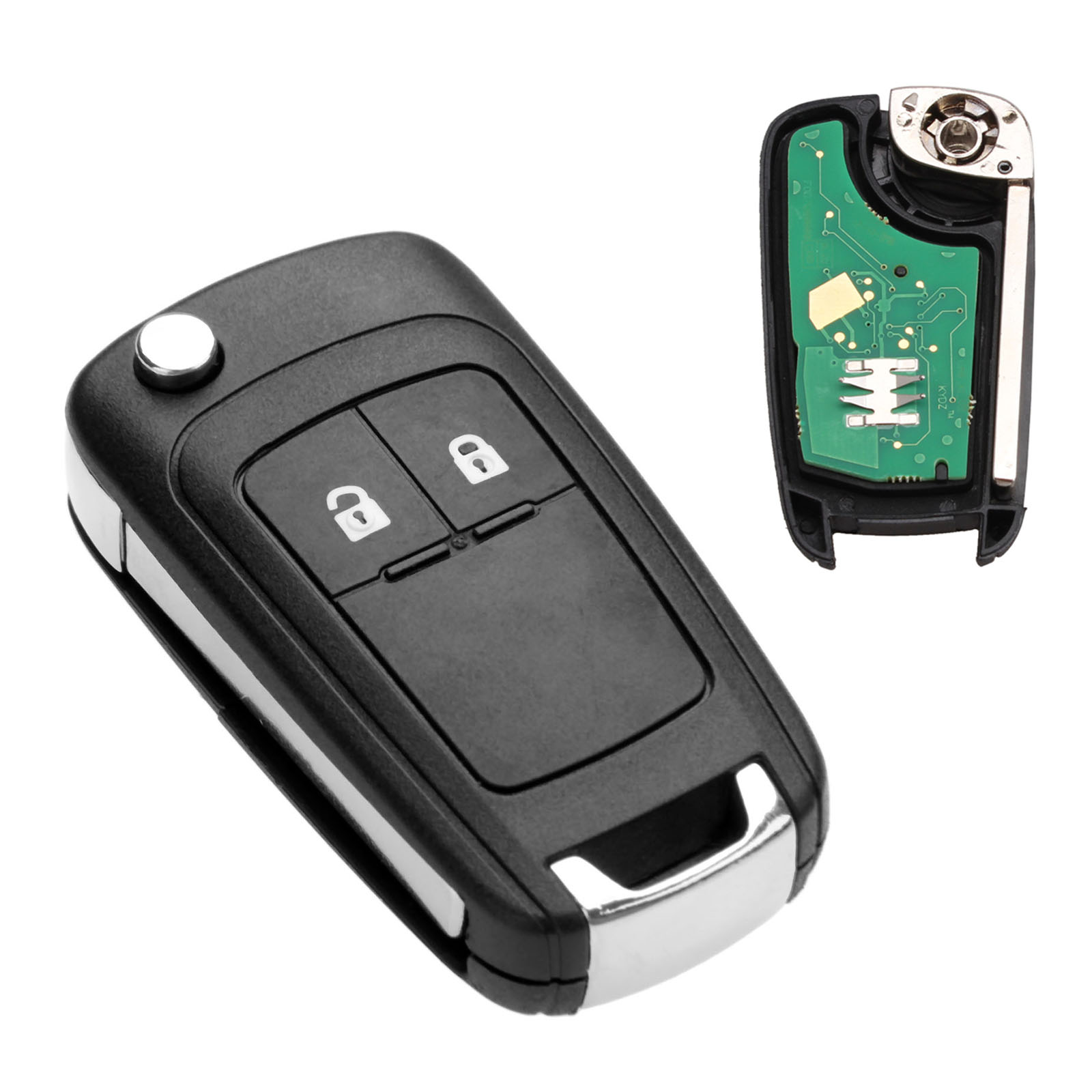 Yetaha 2 Buttons Smart <font><b>Remote</b></font> <font><b>Key</b></font> With ID46 7941 Chip For <font><b>Opel</b></font> Vauxhall 433 MHz For Astra J Corsa E Insignia Zafira C 2009-2016 image