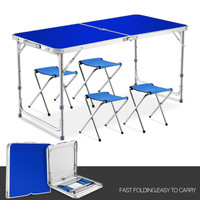 Outdoor Folding Table and Chair Multifunction Camping Desks Portable Ultra Light Simple Push Activity Aluminum Alloy Small Table