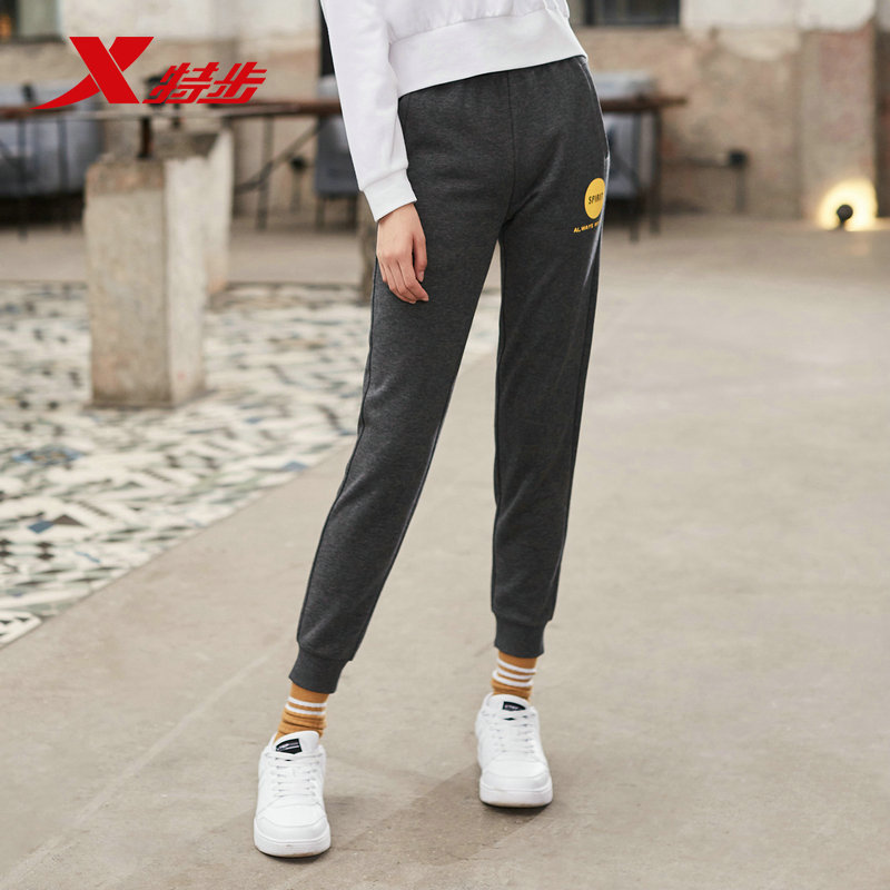 881328639039 Xtep women sports trousers 2019 autumn casual outdoor knitting fitness running feet pants