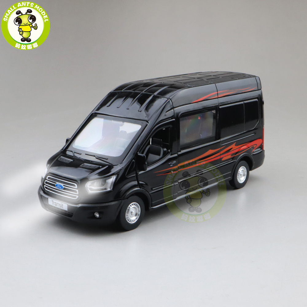 1/35 Ford Transit Van Cargo MPV Diecast Model Car Toys Kids Boys Girls Gifts