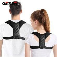 Getinfit nova postura de volta corrector cinto feminino homens evitar jubarte aliviar a dor postura cintas clavícula cinta transporte da gota