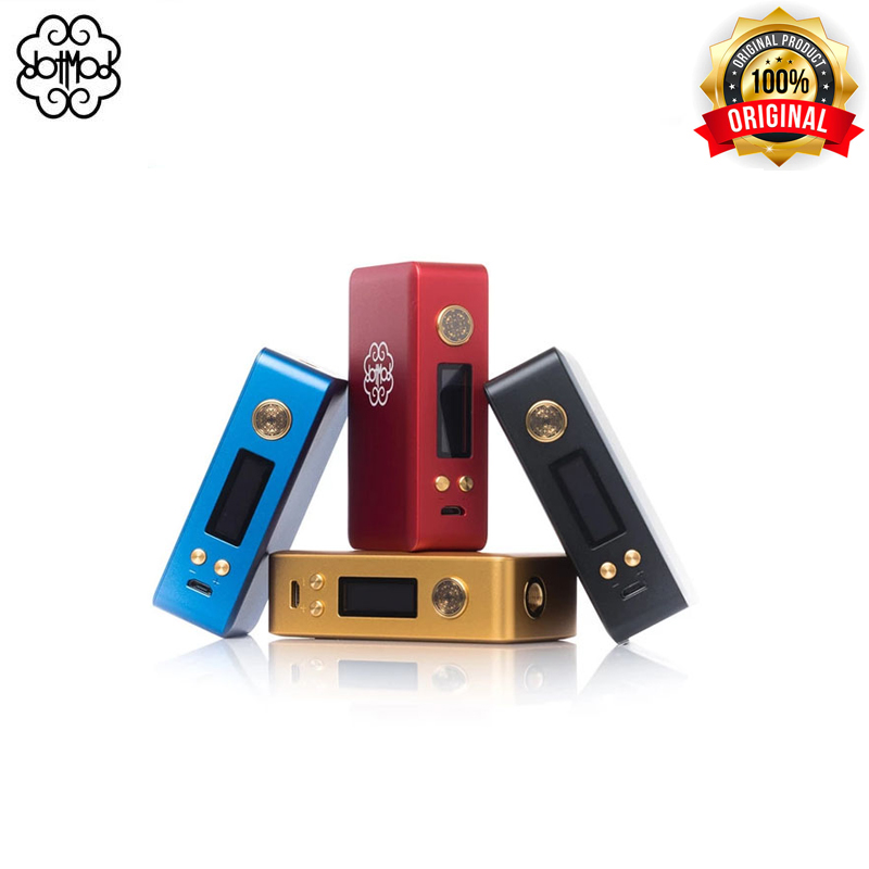 Original Dotmod DotBox 75w Box Mod Regulated TC Box Device By Single 18650 Battery LCD Display Electronic Cigarettes Mod Vape