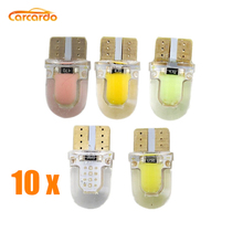купить Carcardo T10 W5W Car LED Light COB LED Car Bulb W5W 12V LED Car Light W5W Clearance Lamp Silica Gel Car Marker Light Dome Lamp дешево