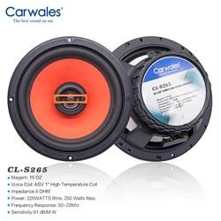 Carwales 6.5 Inch 2-Way Rear Door Coaxial Speaker 250W Car Speaker Set Tweeter Auto Sub Woofer Audio System Loud Speaker for Car