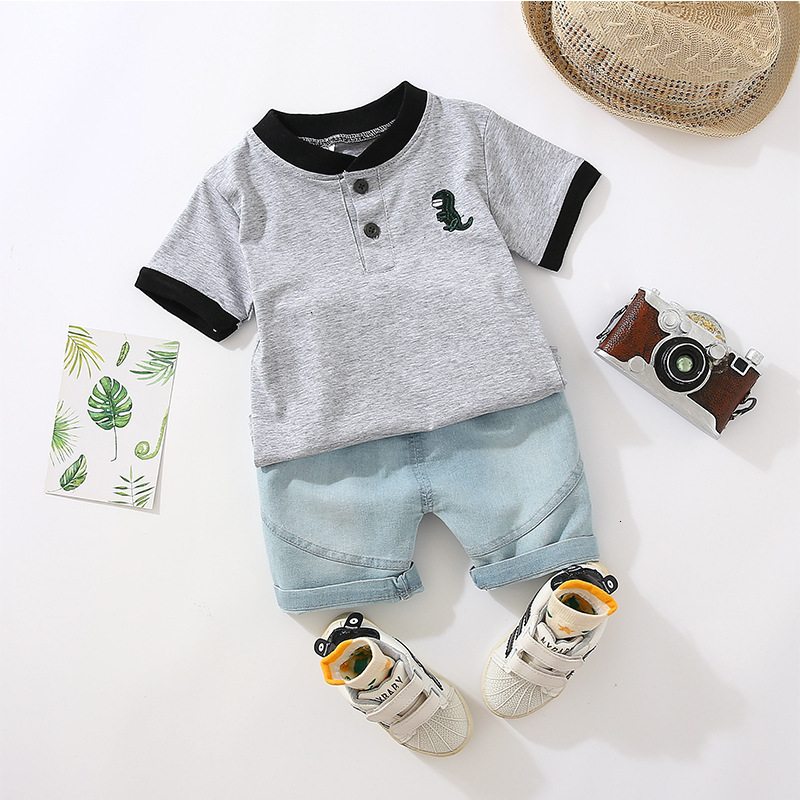 Crianças algodão para fora roupas de verão