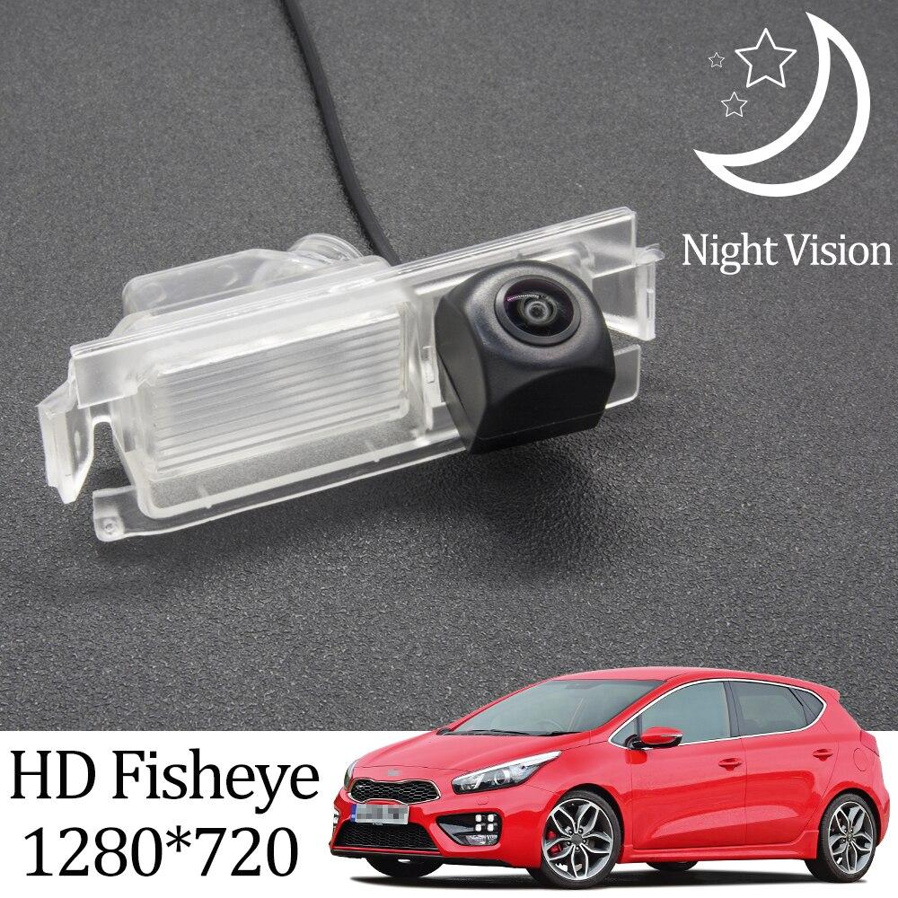 Камера заднего вида Owtosin HD 1280*720 «рыбий глаз» для хэтчбека Kia Ceed (JD) 2012-2018, аксессуары для парковки заднего хода автомобиля