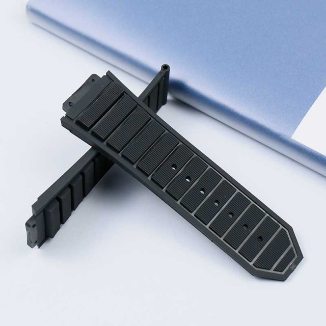 New rubber waterproof and sweat-proof men's watch belt for Hublot casual series 29mmx19mm ladies silicone watch accessories 4