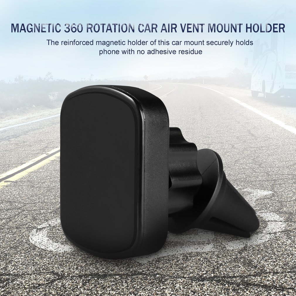 CJT-K18 Strong Magnetic Car Air Vent Phone Mount Holder For Smartphones GPS With Sturdy Base 360 Rotation Wide Compatiblity