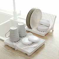 Kitchen Foldable Dish Plate Drying Rack Organizer Drainer Plastic Storage Holder Sink Drying Rack Home Kitchen Accessories|Racks & Holders|   -