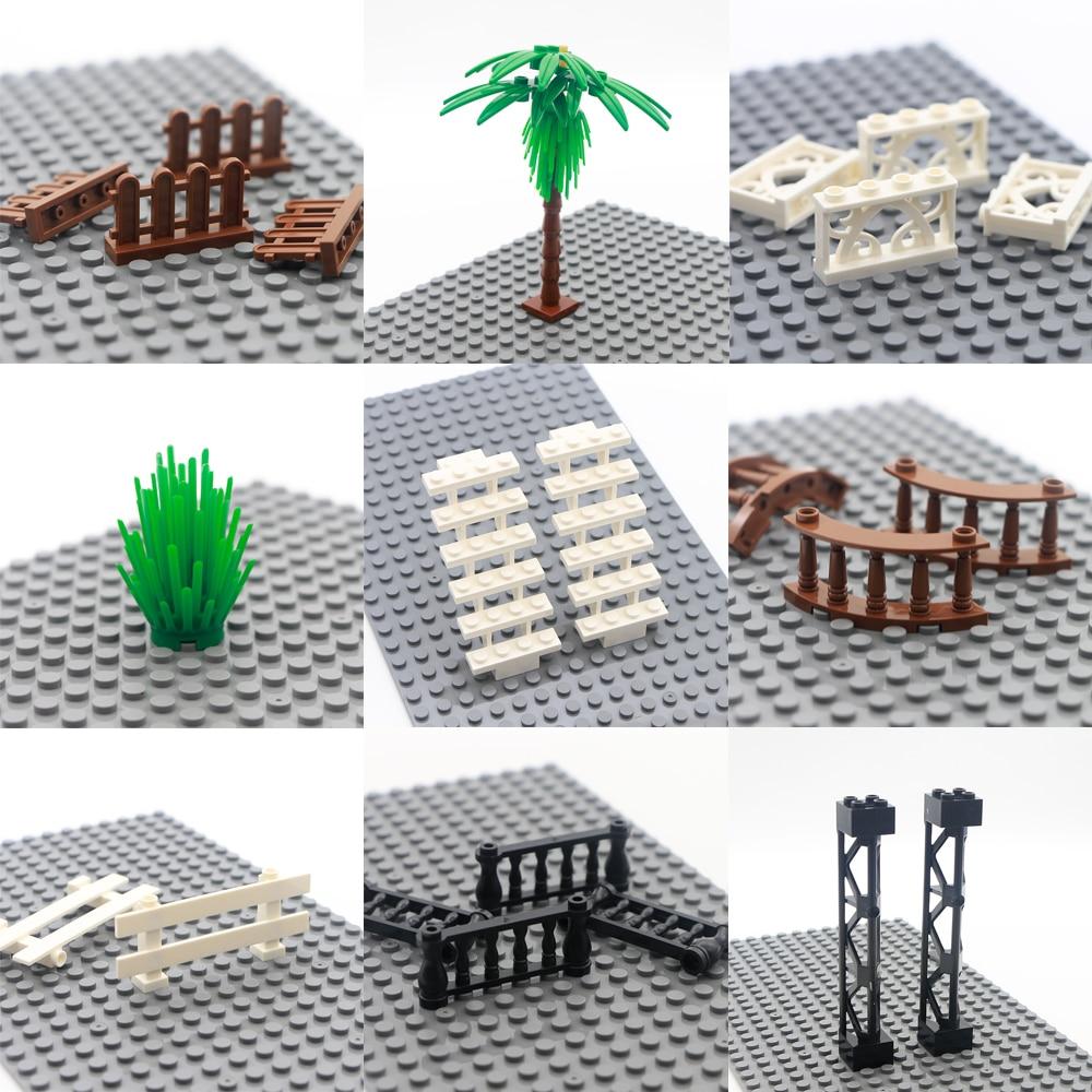 Городские аксессуары строительные блоки части дома забор Лестница Столб стены создатель кубики MOC для фигуры модель игрушки