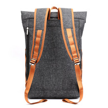 New Style Fashion Backpack Mens Large Capacity Student School Bag Leisure Travel Simple Business