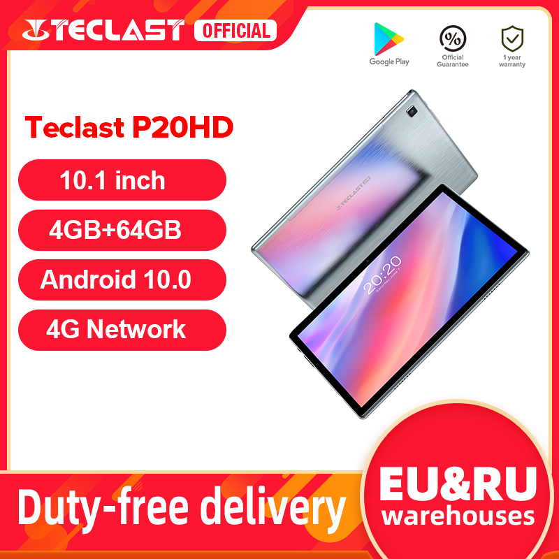 Tablets PC AI Dual-Wifi Octa-Core Android Teclast P20hd 1920x1200 SC9863A Network 4G