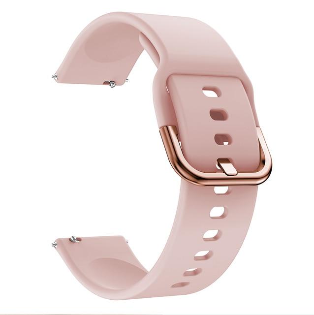 Bracelet de montre 20mm pour Samsung Galaxy montre Active 2 40/44mm Sport silicone bracelets intelligents pour Samsung Gear S2 classique 732 bracelet 6