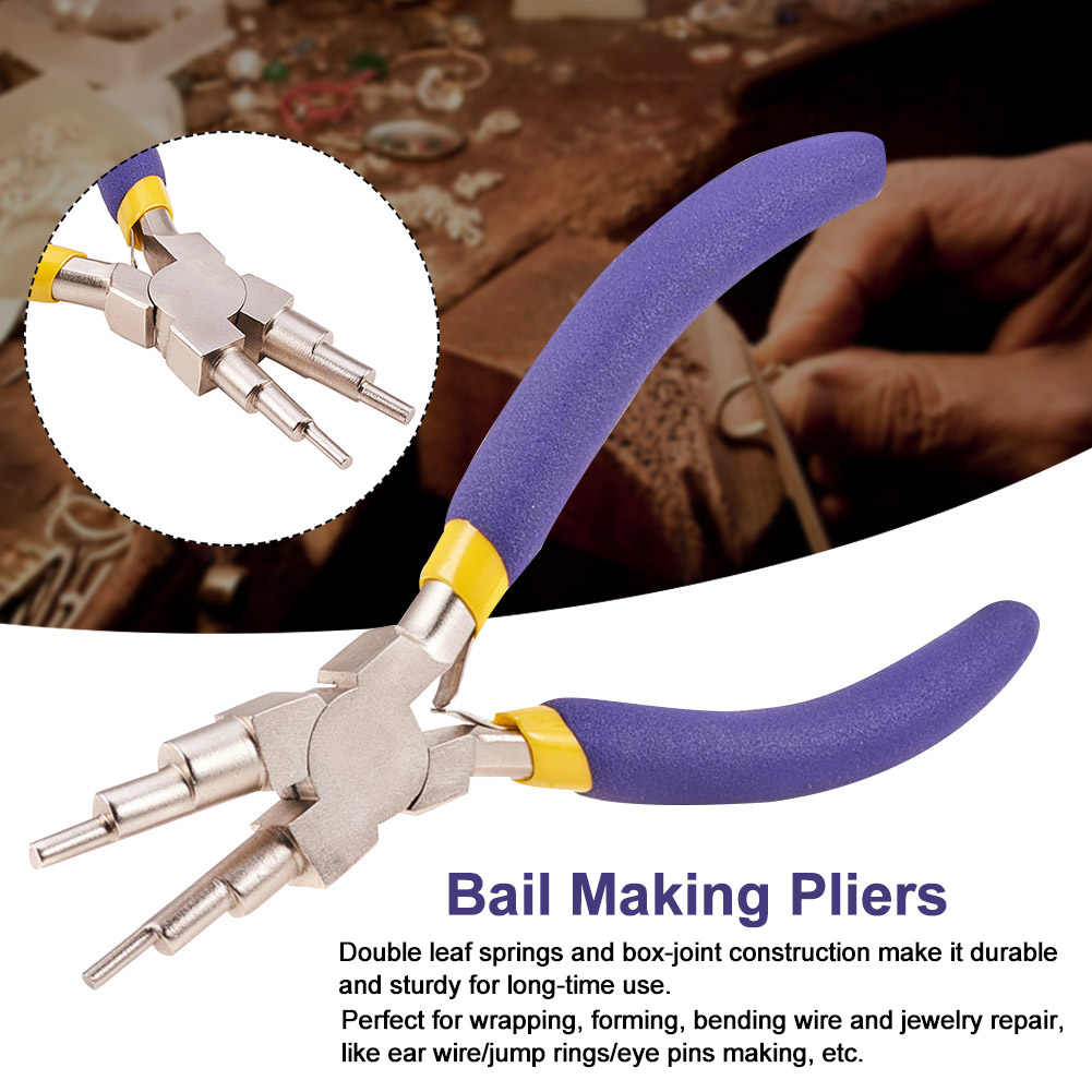 Carbon Steel Jewelry Pliers 6-in-1 Bail Making Pliers DIY Hand Tool New