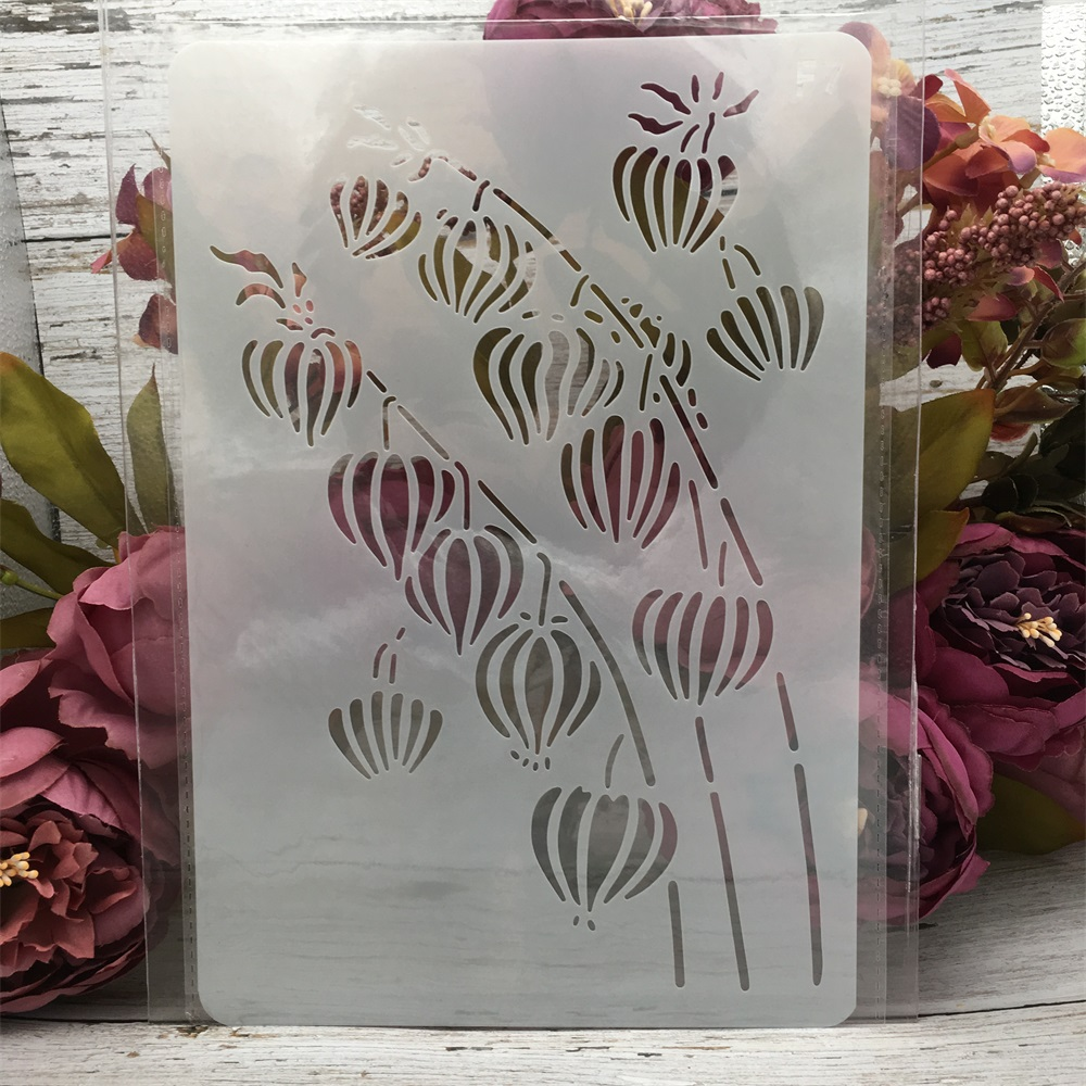 1Pcs 26*17cm Dandelion DIY Layering Stencils Wall Painting Scrapbook Coloring Embossing Album Decorative Card Template