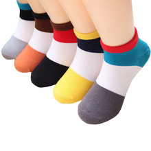 5 Pairs/Set Children Socks Spring Autumn Cotton Baby Girls Boys Socks Candy Color 1-9 Year Kids Cotton Striped Socks pink cat 5 pairs baby socks spring and autumn cartoon children s socks unisex all combed cotton newborn socks 10 color