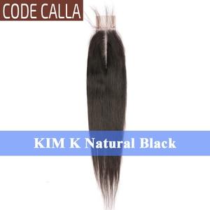 Image 3 - Code calla prosto 2*6 cal rozmiar koronki KIM K zamknięcie malezyjski Remy ludzki włos włosy wyplata przedłużanie włosów naturalny czarny ciemny brązowy kolor