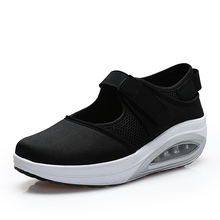 Women New Wedge Sneaker Slimming Toning Shoes Breathable Thick Bottom Increase Women Fitness Shoes Shock Absorber Sneakers