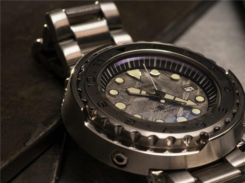 Himq SBBN015 グリーンダイヤル回転セラミックベゼル 300 メートル wr NH35 自動運動ダイビング時計