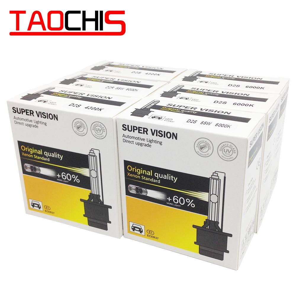 TAOCHIS AC 12V 35W D2S D2R HID Xenon Lamp D1S D1R Car Headlight D3S D3R Single Beam Auto Light  D4S D4R Replacement Bulbs