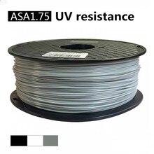 Filamento de ASA 3D impresora 1KG1.75mm Super Urability de alta resistencia de los más vendidos de plástico de 1kg consumibles Material resistencia UV