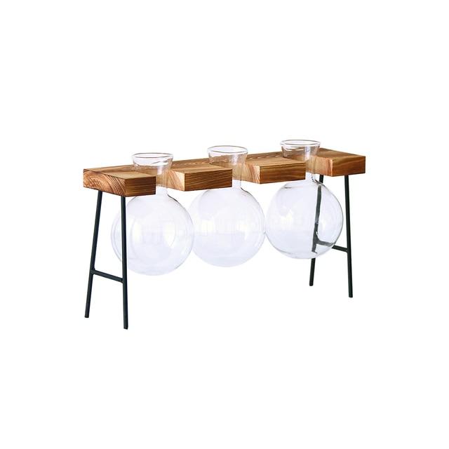 Fashion Hydroponic Vase Borosilicate Transparent Glass Bulb Vase Mini Garden Water Planting Propagation Stations Home Decor Gift 4