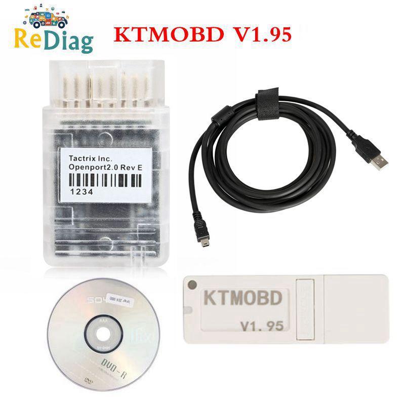 KTMOBD V1.95 KTMOBD ECU Upgrade Tool Openport J2534 Transfer Stable Real Reading KTM OBD USB Dongle