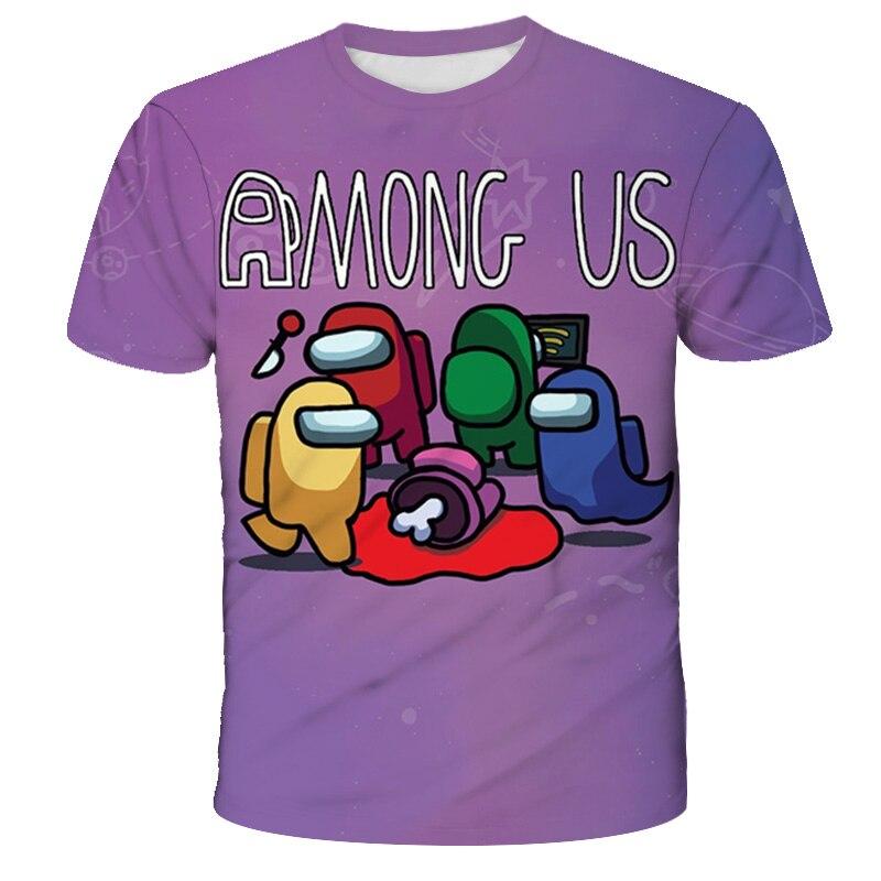 Одежда для девочек, футболка с рисунком игры среди нас 12 лет для мальчиков, забавная летняя детская футболка с рисунком из мультфильма, детс...