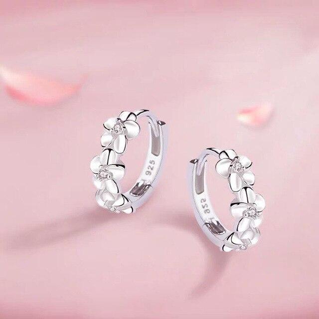 925 Sterling Silver Small Flower Earrings  3