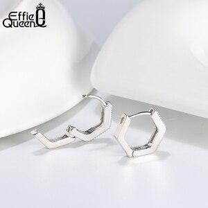 Image 3 - Effie królowa kobieta małe kolczyki w kształcie obręczy 925 srebro 12mm z cyrkoniami aaa kolczyk biżuteria wesele prezent BE261