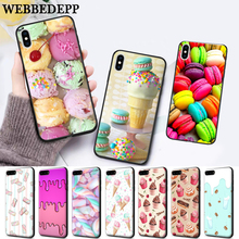 WEBBEDEPP PINK Heart Dessert Silicone soft Case for iPhone 5 SE 5S 6 6S Plus 7 8 11 Pro X XS Max XR