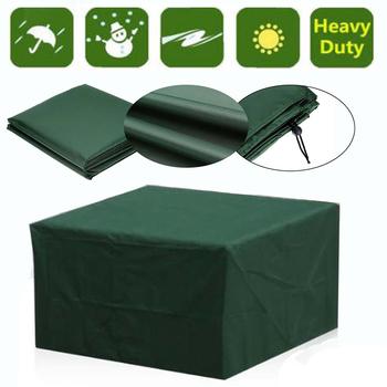 16 rozmiarów 210D wodoodporne patio na świeżym powietrzu pokrowce na meble ogrodowe deszcz śnieg krzesło pcv pokrowce na sofę stół i krzesła odporny na kurz tanie i dobre opinie Nowoczesne 120*120*74CM 100 poliester jjz004 green