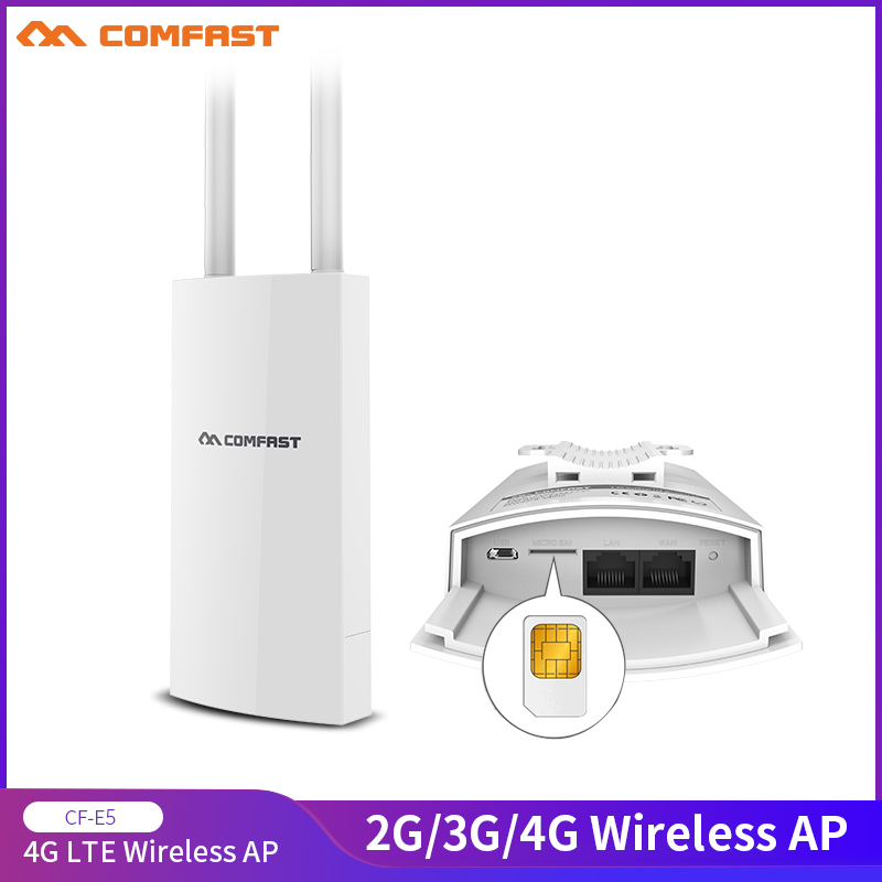 COMFAST CF-E5 High Speed Internet Outdoor 2.4G&4G Wireless Router WIFI Signal Support DC&POE Supply Unlimited Network Adapter
