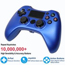 Wireless Bluetooth Game Controller for PS4 Double Vibration Six-axis Gyroscope 3D Joystick Gamepad