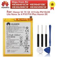 Oryginalny HB366481ECW bateria do telefonu Huawei Honor 8 9 Lite 5C 7C P9 P10 P20 lite Nova3e Honor 5X 5A Honor 9 P10 Plus Honor 8X
