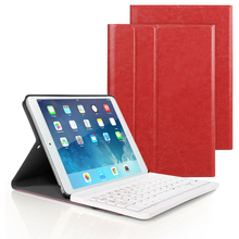 PU Leather Smart Bluetooth Keyboard Case For IPad Air1/2 Pro9.7 Ipad 2017 2018 Adjust Viewing Angle Foldable for 5 6