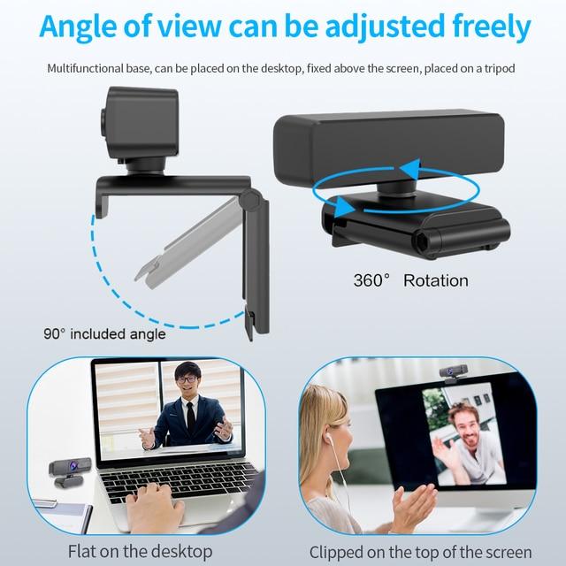 ASHU H701 HD USB Webcam 1080p Autofocus Web Camera with Microphone AF Autofocus Camera For Computer Live Online Teaching 6