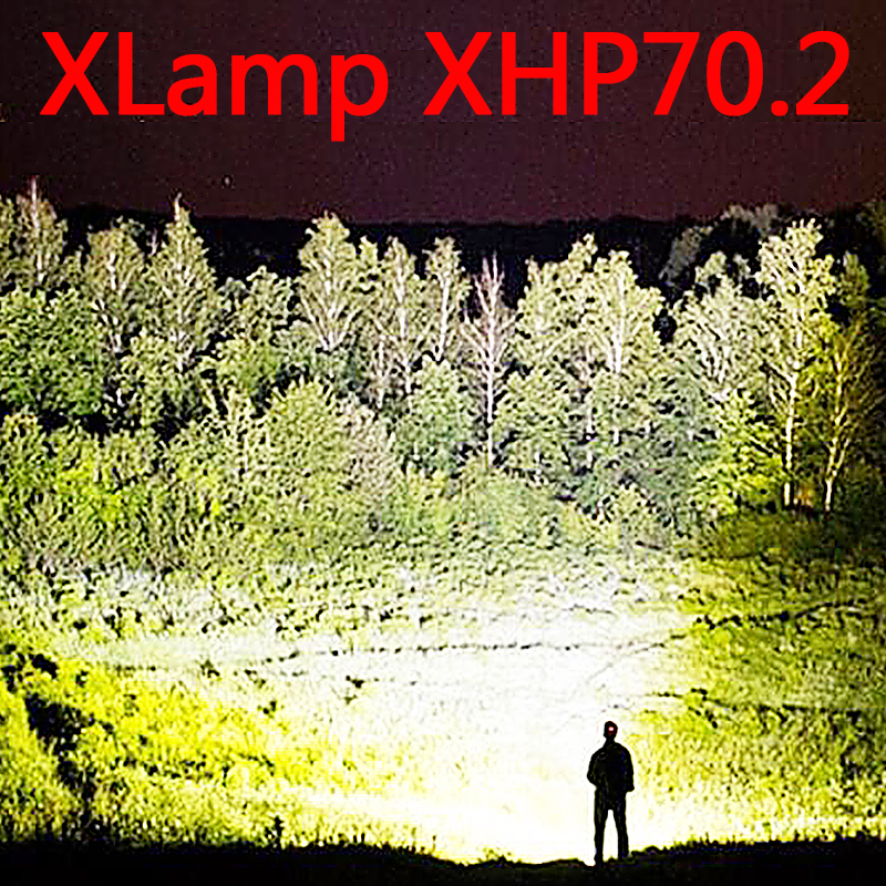 Most Powerful Led Flashlight  Use 26650 Waterproof Xhp70.2  3 Modes Usb Torch Xhp50 Lantern 18650 Hunting Lamp Hand Light