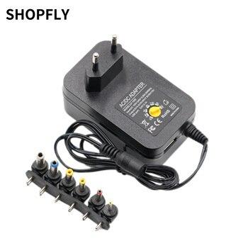 Adaptador de corriente ajustable de 3v, 4,5 v, 5v, 6v, 9v, 12v CC, convertidor de fuente de alimentación Universal, Cable de 6 enchufes