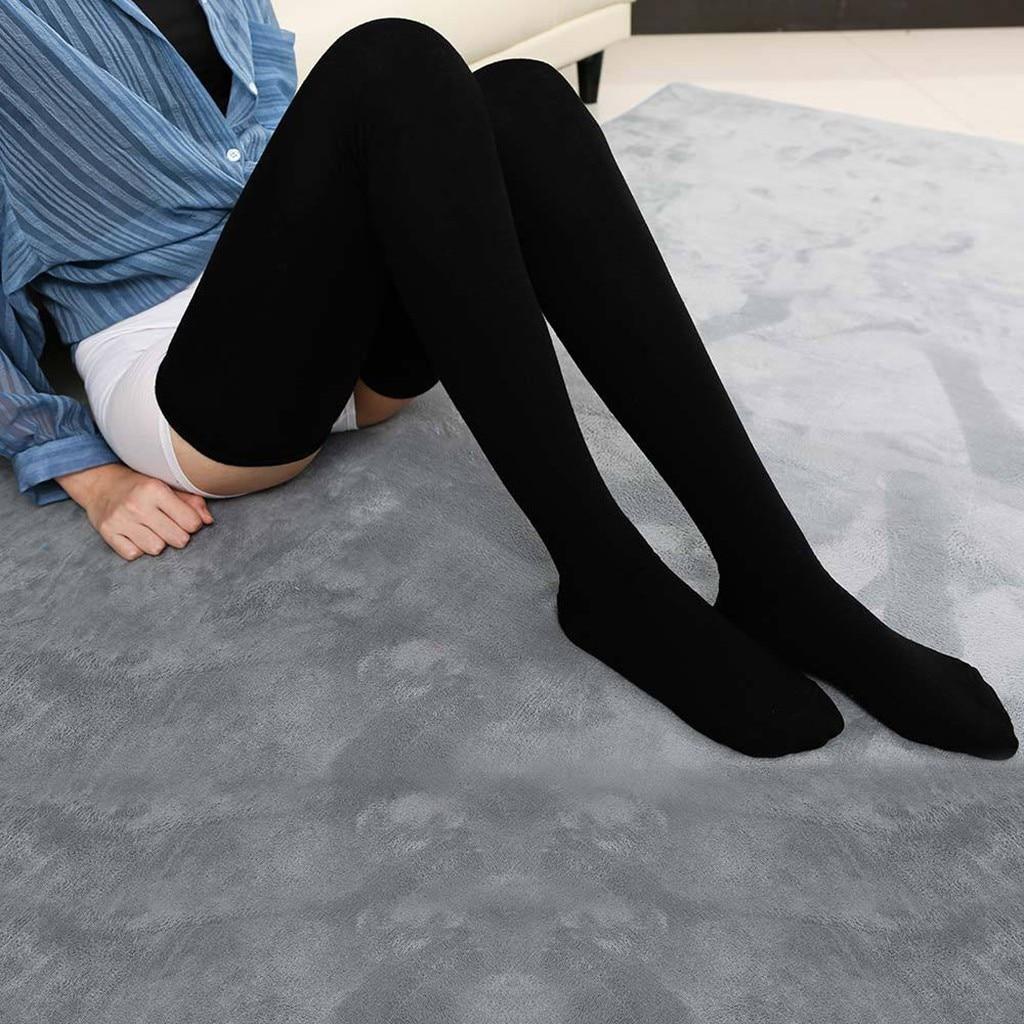 Calcetines por encima de la rodilla de algodón para mujer, Medias por encima de la rodilla, cálidas, 80cm, Super Media larga, Sexy, 2020