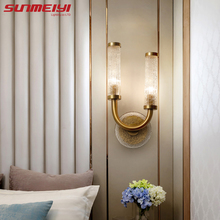 Nordic Led Wall Lamps Crystal Light For Living room Bedroom deco Indoor Lighting Bedside Reading Lamp Bathroom decor