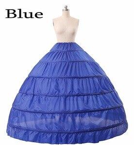 Image 5 - Halka ślubna 6 obręczy suknia balowa halka krynolina Slip podkoszulek bal weselny sukienka halka fioletowy czerwony niebieski duża halka