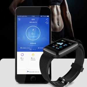 Image 4 - Rovtop Smart Uhren 116 Plus Herz Rate Monitor Blutdruck Smart Armband SSmart Band Smartwatch Android Iphone