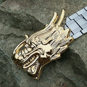 Image 5 - Mens Metal Stainless steel Belt Punk style X buckle self defense waistband Dragon Letter Personalized special outdoor belt