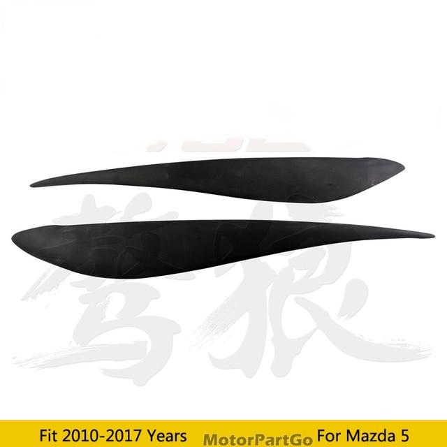 Real Crabon Fiber Head light Eyelid Eyebrow Cover Trim 1pair for Mazda 5 2010 - 2017  T205 3