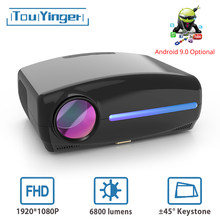 Touyinger S1080 C2 Full HD 1080P LED Projector ( 4K video Android 9 Wifi optional) Smart Home Theater AC3 200 inch 4D Keystone
