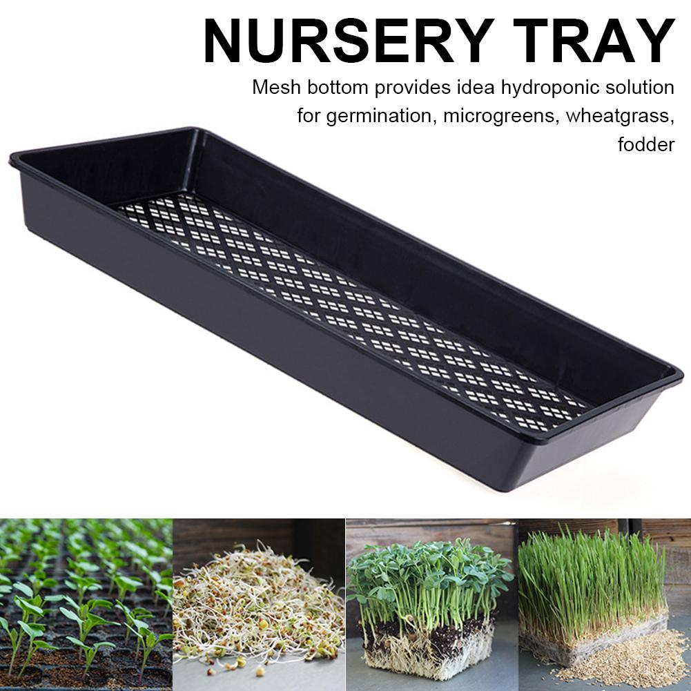 10PCS Mesh Bottom 1020 Trays For Microgreens, Soil Blocks, Wheatgrass, Hydroponic And Fodder Systems