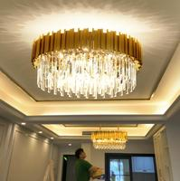 Luxury Crystal Room Ceiling Lights Modern Gold Round Ceiling Crystal Led Home Interior Lighting Fixtures