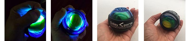 Trainer Bola Giroscópio LED Wrist Strengthener Bola